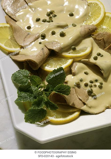 Vitello Tonnato:Sliced Veal with Tuna-Caper Sauce
