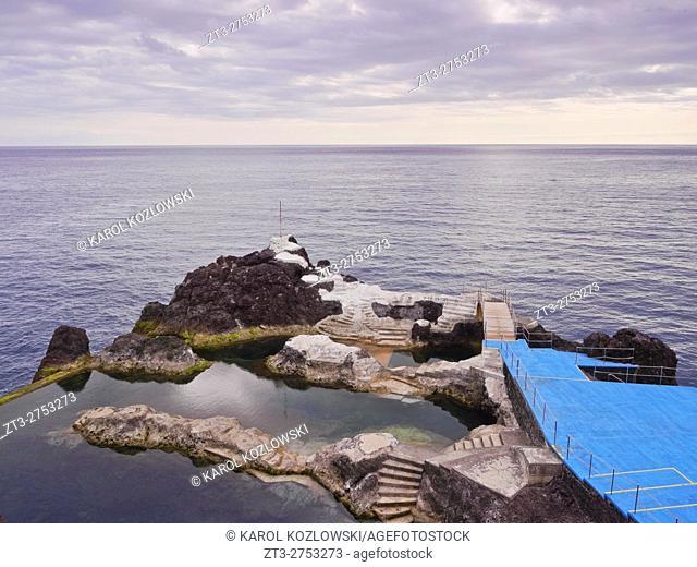 Portugal, Madeira, View of the coast of Sao Martinho.