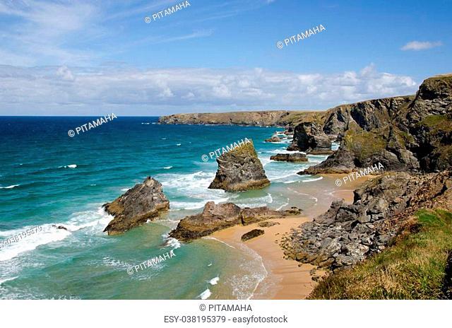 Bedruthan steps Beach, Cornwall, UK