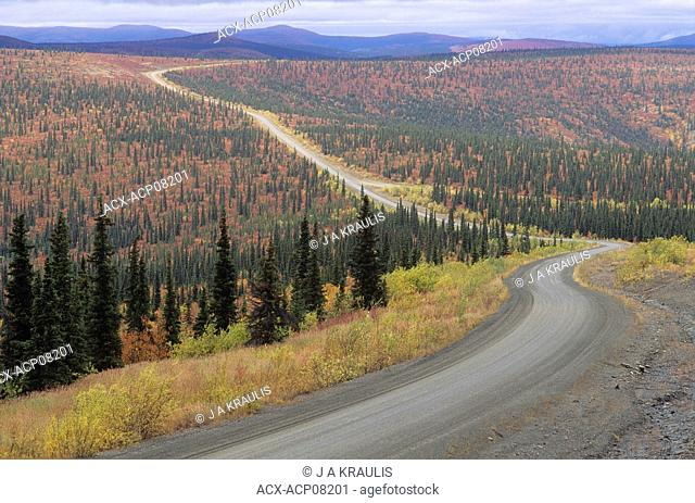 Fall Colours along Top of the World Highway, Yukon Territory, Canada