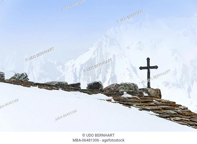 Switzerland, Valais, Orsières, Großer Sankt Bernhard/ Colle del Grand San Bernardo / Col Du Grand Saint-Bernard, Walliser alps, height 2