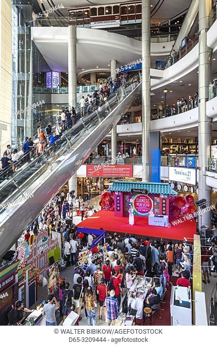 Thailand, Bangkok, Sukhumvit Area, Terminal 21 shopping mall, Chinese New Year concert