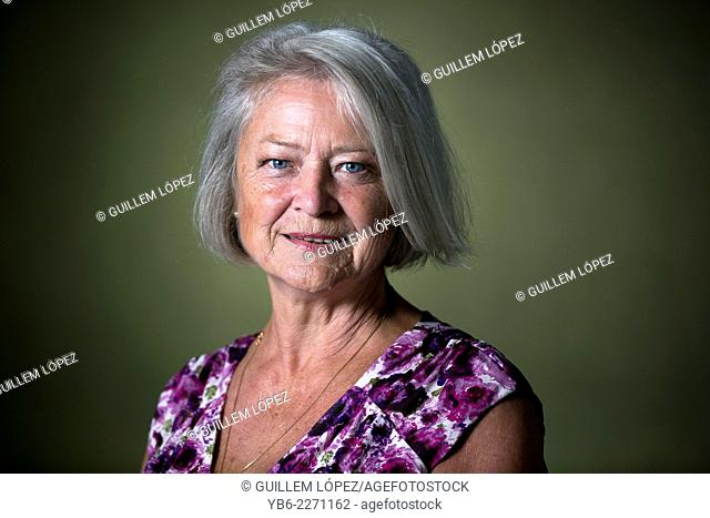 English journalist Kate Adie OBE DL, appears at the Edinburgh International Book Festival