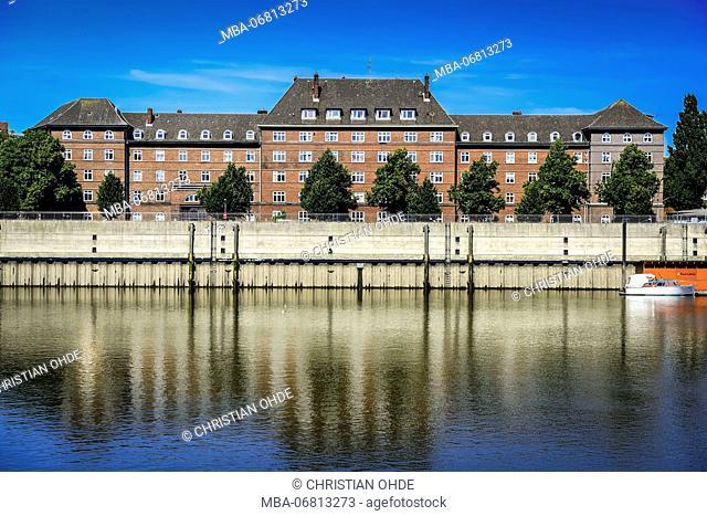 Germany, Hamburg, Veddel, residential house, Müggenburger Zollhafen