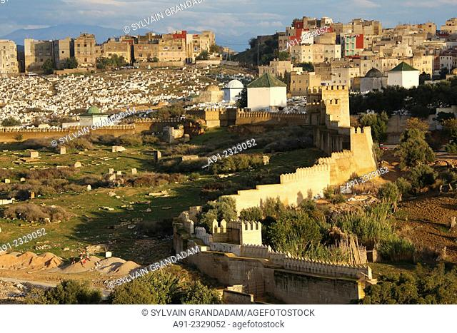 North Africa, Morocco, City of Fez (Fes), Medina, view on the city from the Faraj Palace