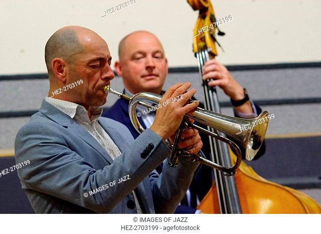 Chris Coull and Dan Sheppard, Eastbourne Jazz Festival, Leaf Hall, East Sussex, 30 Sep 2018. Creator: Brian O'Connor