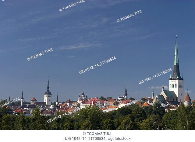 View of Tallinn Old Town Skyline