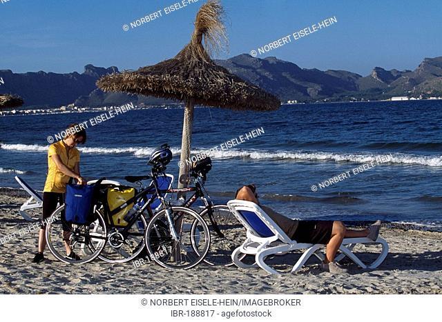 Beach of Can Picanfort, Bahia de Alcudia, Majorca, Spain