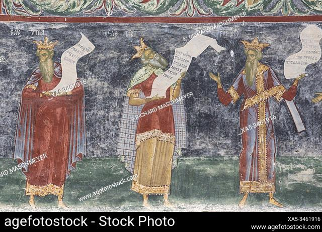 External Frescoes, Sucevita Monastery, 1585, Painted Monasteries, UNESCO World Heritage Site, Sucevita, Suceava County, Romania