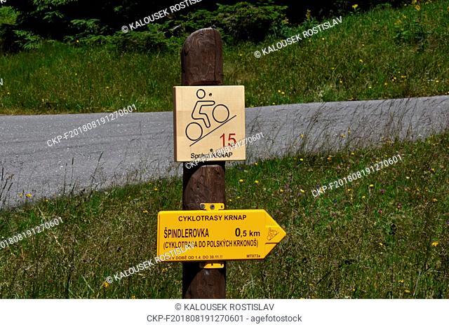 Cycling trail in the Krkonose National Park, Czech Republic, 2018. (CTK Photo/Rostislav Kalousek)