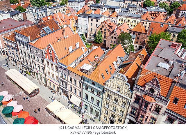Rynek Staromiejski street or square, Torun, Poland