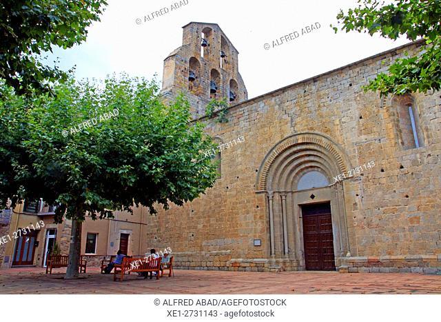 Church of Santa Maria, Agullana, Alt Emporda, Catalonia, Spain