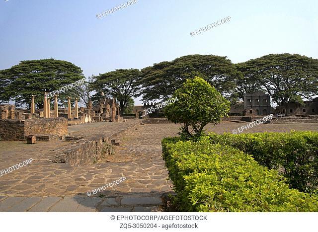 Rani Chennamma Fort ruins, Kittur, Karnataka State, India