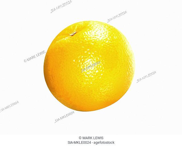 Close up of orange on white background