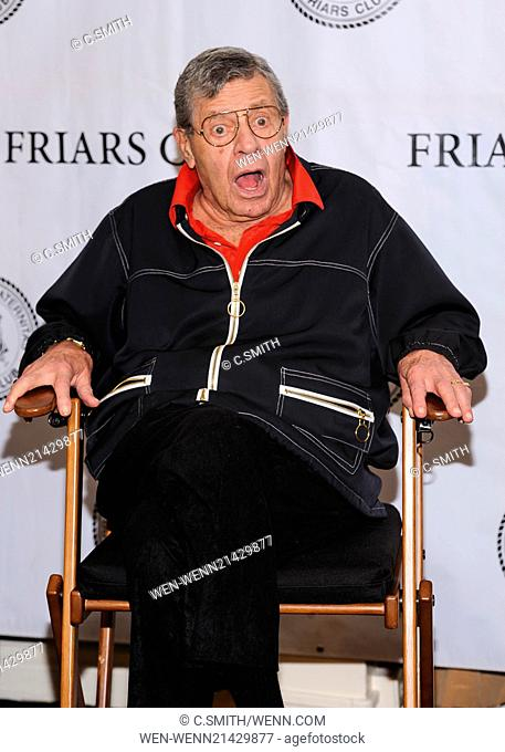 Friars Club celebrates Jerry Lewis and the release of the 50th anniversary Blu Ray of The Nutty Professor Featuring: Jerry Lewis Where: New York, New York