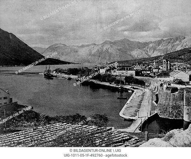 One of the first autotype photographs of cattaro, austria