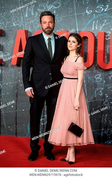 The Accountant Premiere held at the Cineworld Leicester Square. Featuring: Anna Kendrick, Ben Affleck Where: London, United Kingdom When: 17 Oct 2016 Credit:...