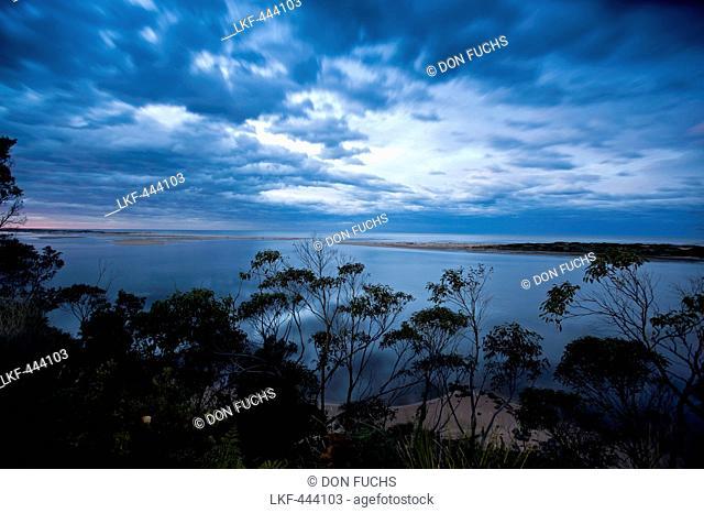 Mouth of the Snowy River near Marlo, East Gippsland, Victoria, Australia
