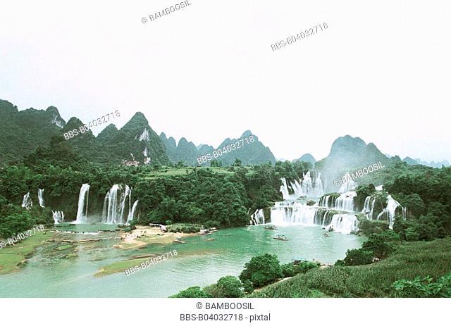 Detian waterfall, Daxin County, Nanning City, Guangxi Zhuang Nationality Autonomous Region of People's Republic of China