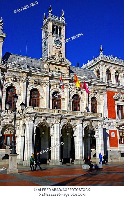 Town Hall, Plaza Mayor, Valladolid, Spain