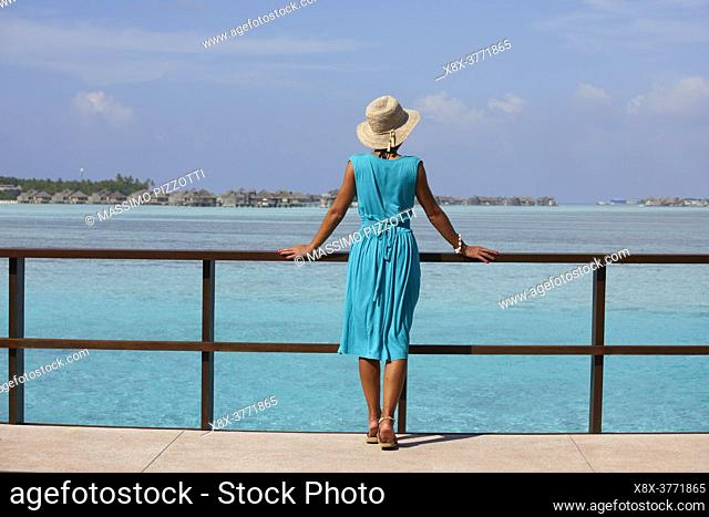 Young woman at the Paradise Island (Lankanfinolhu), Maldives