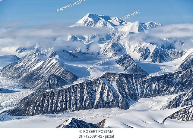 Glaciers and mountains of Kluane National Park and Reserve, near Haines Junction; Yukon, Canada