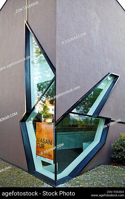 Felix-Nussbaum-Haus, Architekt Daniel Libeskind, Museumsquartier Osnabrueck, Osnabrueck, Niedersachsen, Deutschland, Europa