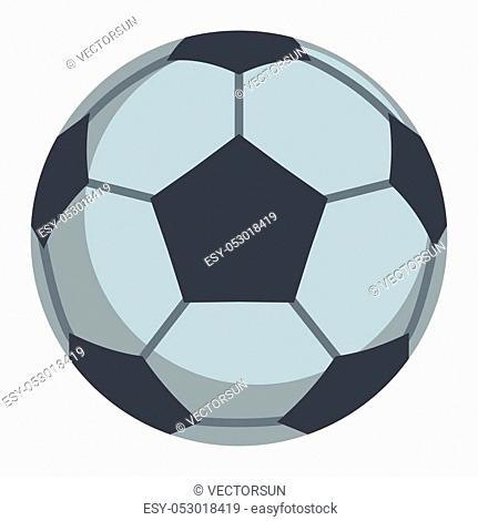 Soccer ball flat icon vector illustration for design and web isolated on white background. Soccer ball vector object for label and advertising