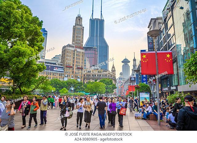 China, Shanghai City, Nanjin Lu, Avenue