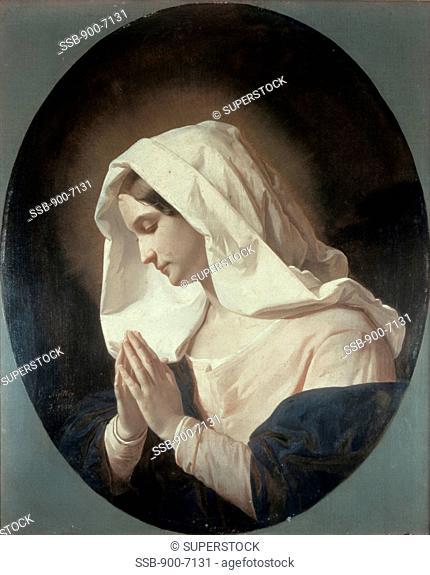 Madonna in Prayer Giuseppe Molteni 1800-1867/Italian