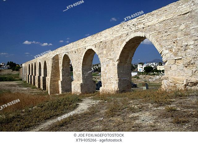 kamares aqueduct larnaca republic of cyprus europe the aqueduct was built in 1750 by Bekir Pasha the Ottoman governor of Cyprus at the time