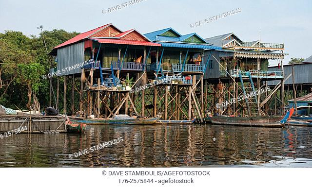 The floating village of Kampong Phluk near Siem Reap, Cambodia