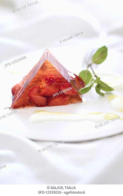 A summer strawberry terrine