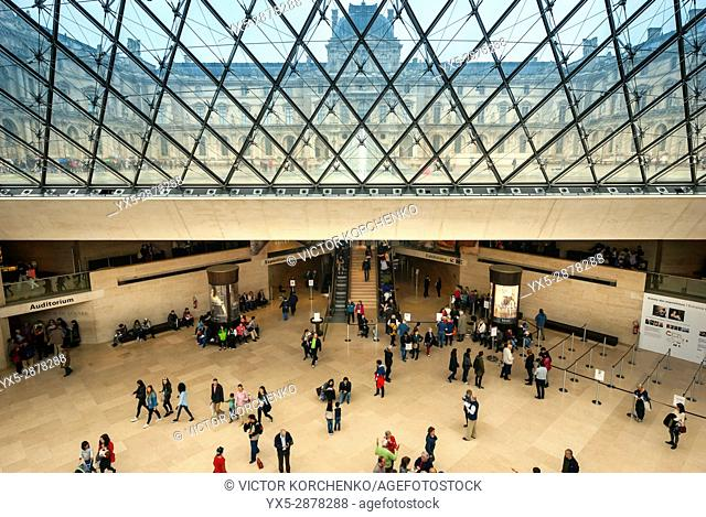 Glass ceiling of Louvre Pyramid