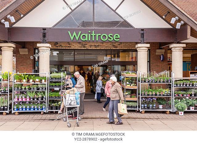 The Waitrose shop store in Ely , Cambridgeshire , England , Britain , Uk