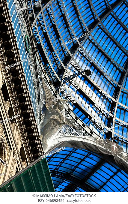 The Galleria Umberto I in Naples was built in liberty style in November 19, 1990
