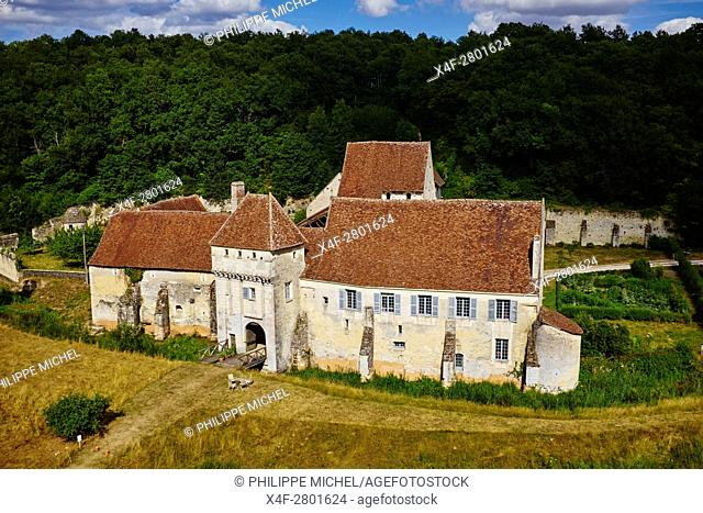 France, Indre-et-Loire (37), Chemillé-sur-Indrois, la Corroirie du Liget, aerial view