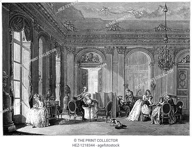 Louis Quinze Living-Room, (1885). An interior decorated in the style known as Louis Quinze, popular c 1700-1750 during the regency and reign of King Louis XV