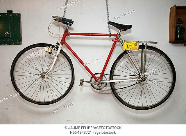Old bicycle hanging