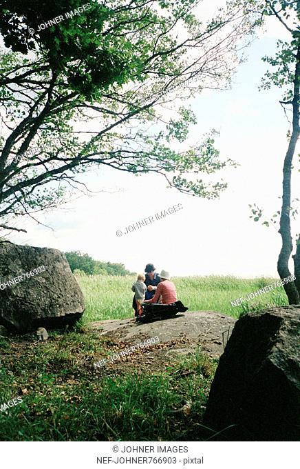 A family having a picnic, Sweden