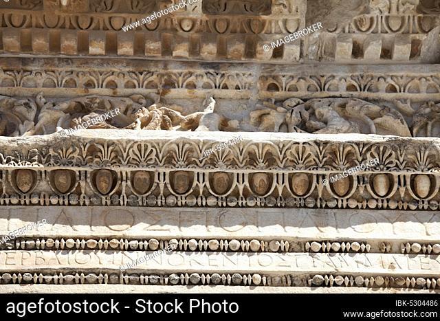 Deail from Hadrian's Temple, Ephesus, Izmir, Turkey, Asia