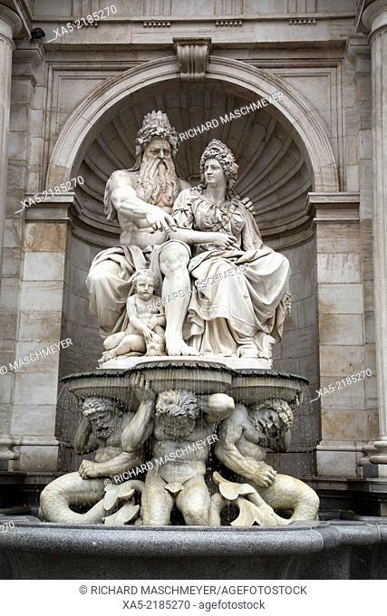 Neptune Fountain, Albertina Square, Vienna, Austria