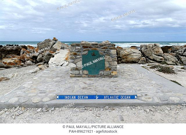 Most southern point where the Indian and Atlantic oceans meet, Agulhas , Western Cape, South Africa | usage worldwide. - /South Africa/South Africa