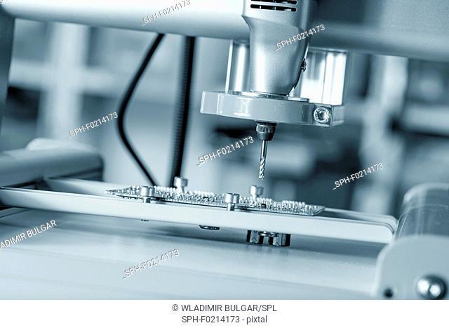 Cutting tool on CNC milling machine