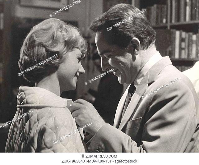 Apr 01, 1963 - Rome, Italy - SHIRLEY JONES and ROSSANO BRAZZI on the set of the film 'Dark Purpose'.(Credit Image: © Keystone Press Agency/Keystone USA via...