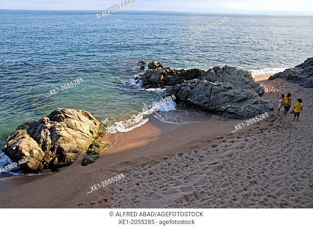 Beach, Sant Pol de Mar, Catalonia, Spain