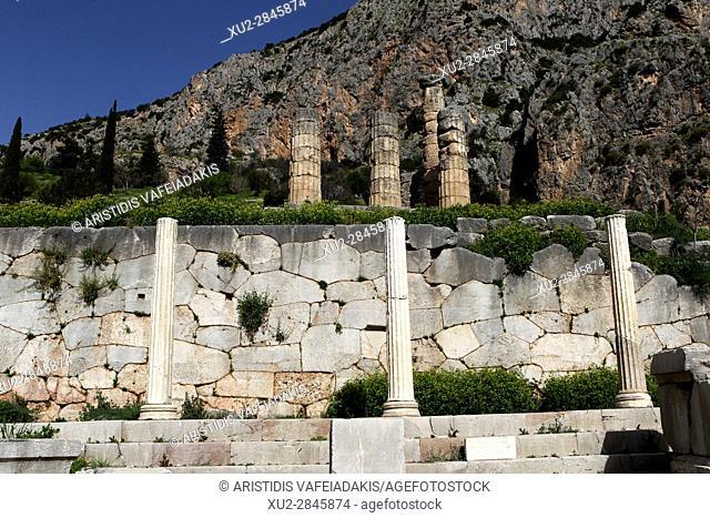 the Temple of Apollo, Delphi,Greece