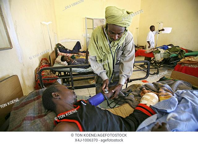 rebels from the Justice and Equality Movement who are injured and hospitalised in a chadian hospital  the JEM rebels are fighting the sudanese government since...