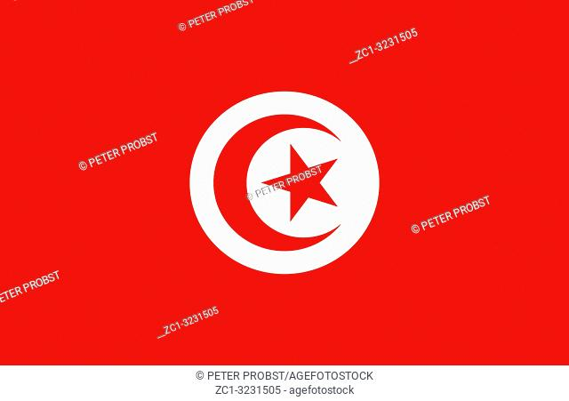 National flag of the Tunisian Republic