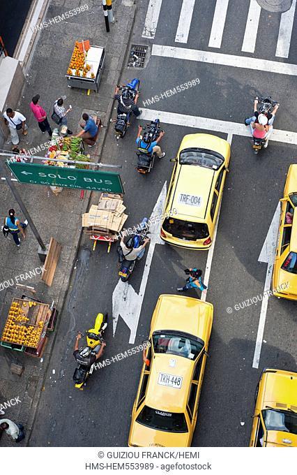 Colombia, Antioquia Department, Medellin, downtown, Villanueva District, taxis in the Calle 46 Maturin